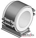 """1-4"""" pipe diameter PTFE, 10-24"""" pipe diameter"""